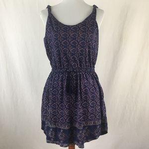 Lucky Brand Women's Navy Blue Sleeveless Dress